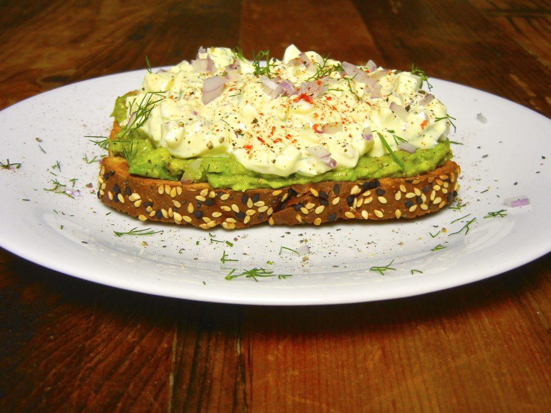 Egg Salad with Avocado Smash - Red Hot and Hungry