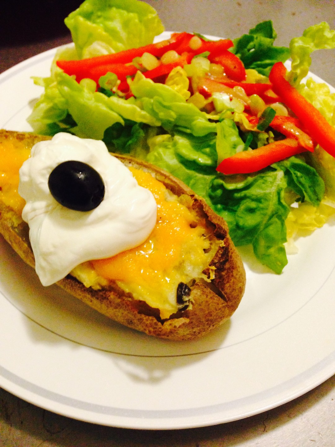 Twice Baked Potatoes with Chili and Cheese - Red Hot and Hungry