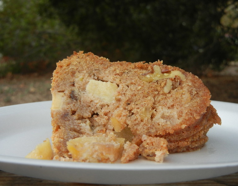 Chunky Apple Walnut Cake - Red Hot and Hungry