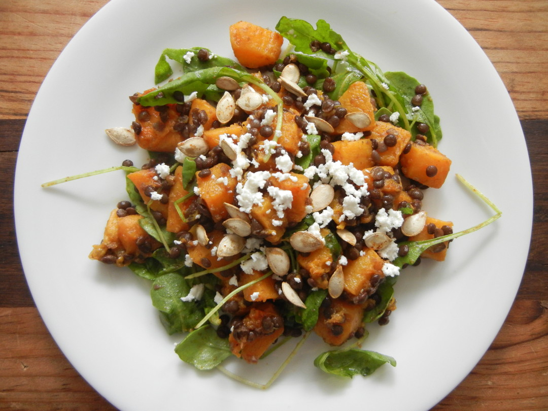 Spicy Squash with Lentils and Goat Cheese - The Splattered ...