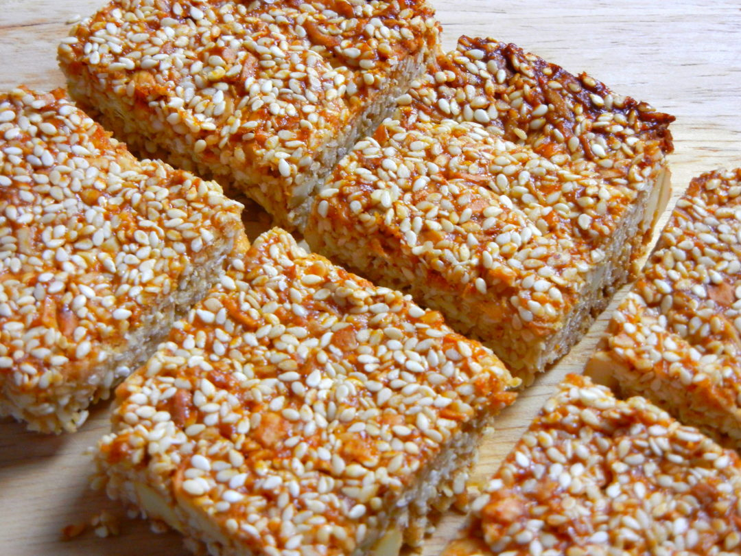 Sesame Coconut Cashew Bars - Red Hot and Hungry