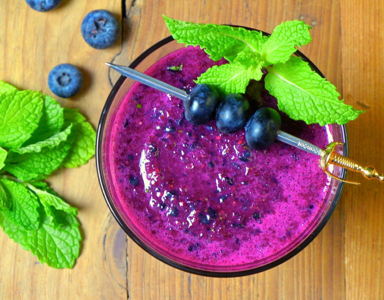Beet-Blueberry Smoothie - Red Hot and Hungry