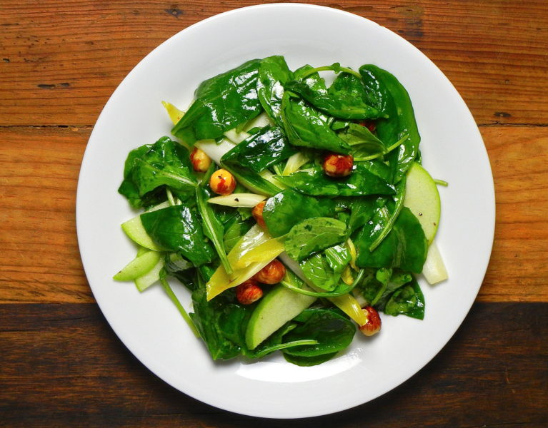 Arugula, Endive, Apple Salad - Red Hot and Hungry