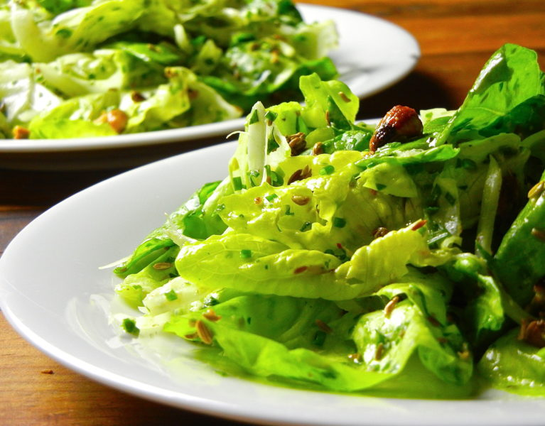 Herb Salad with Pistachios, Fennel and Horseradish - Red Hot and Hungry