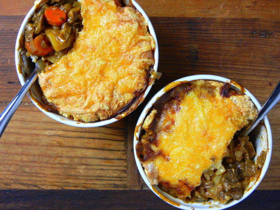 Mushroom and Lentil Pot Pie - Red Hot and Hungry