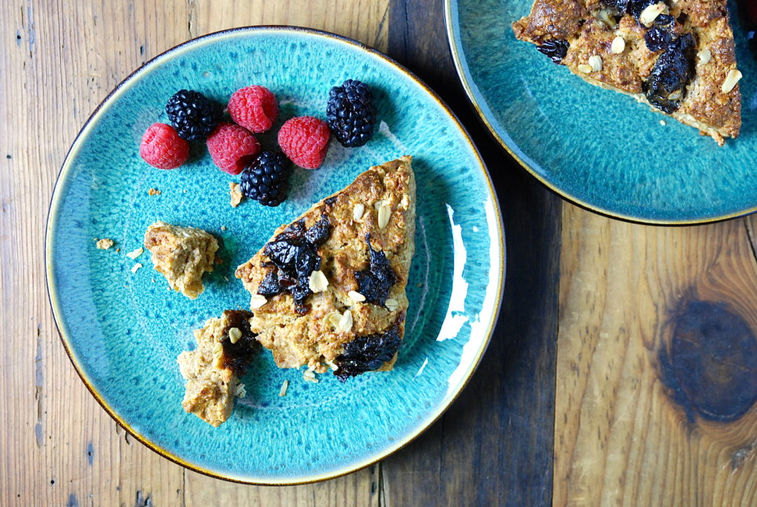 Prune and Oat Scones - Red Hot and Hungry