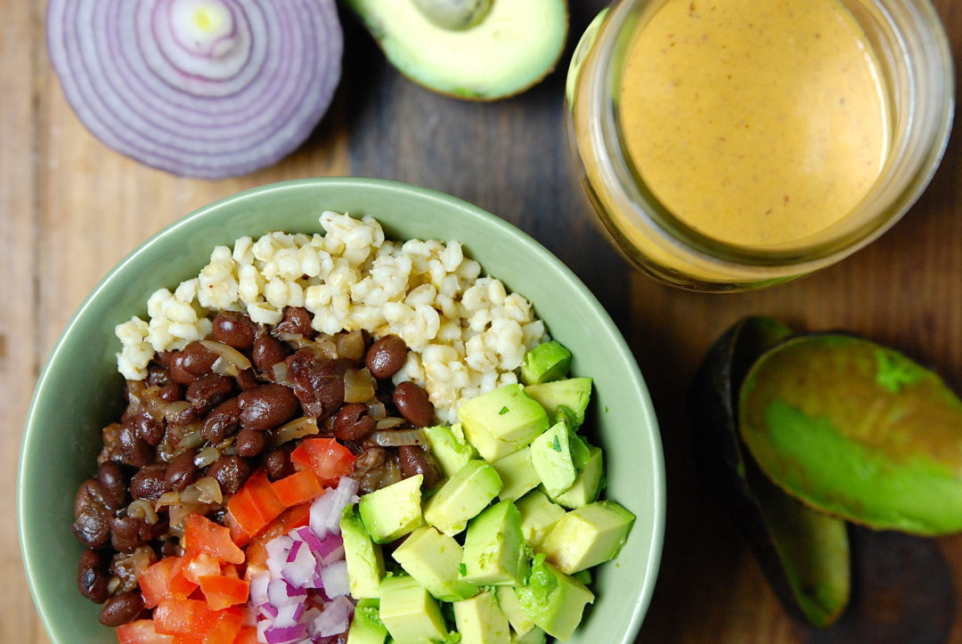 Chipotle Black Bean and Barley Bowl - Red Hot and Hungry