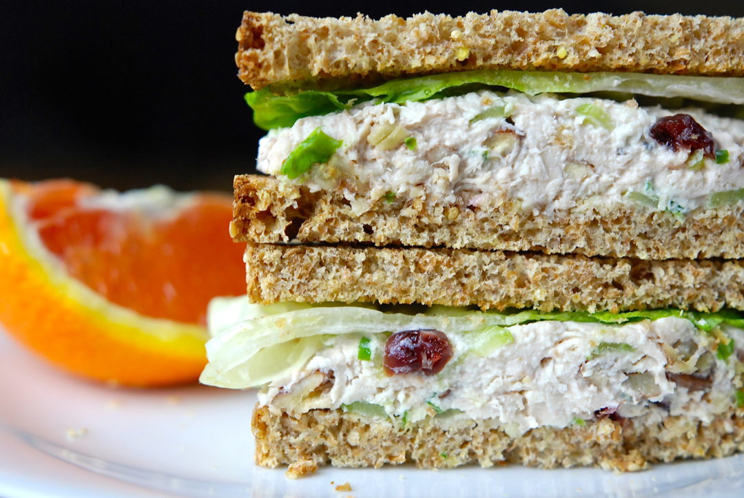 Chicken Salad Sandwiches - Red Hot and Hungry