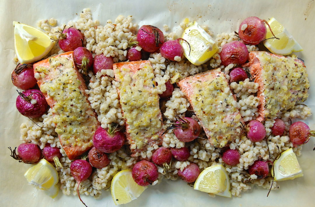 Lemon and Garlic Crusted Salmon - Red Hot and Hungry