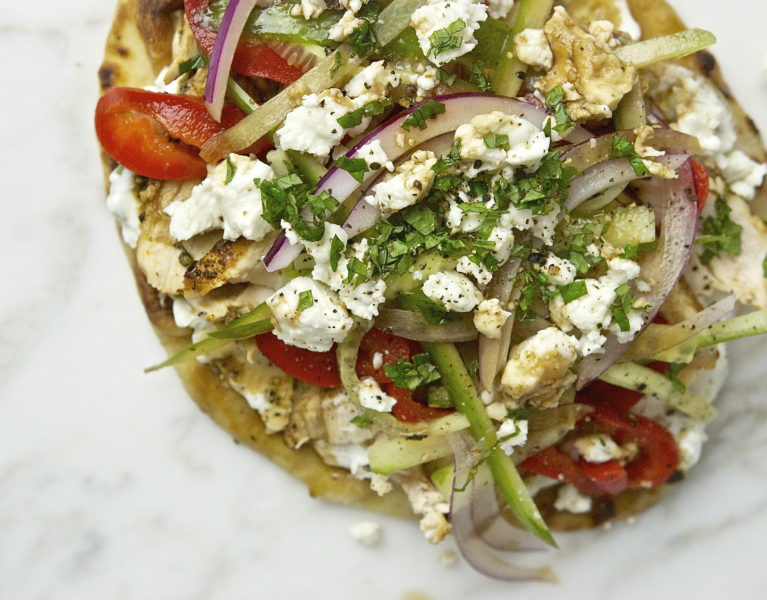 Greek Chicken Gyro - Red Hot and Hungry
