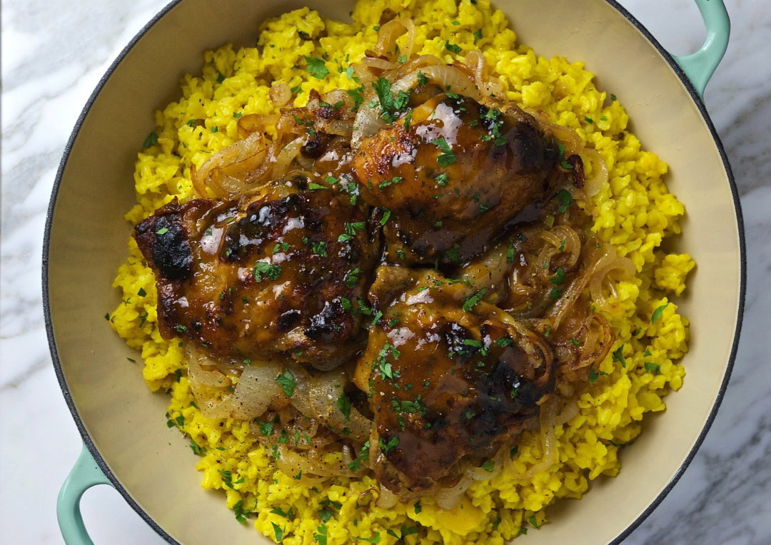 Hot and Sweet Mustard Chicken Thighs - Red Hot and Hungry